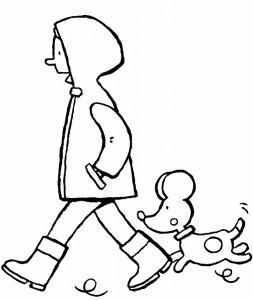Emma-promène-le-chien-coloriage-dessin-image-à-colorier-01V-794x1024