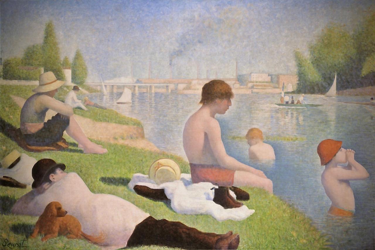 Seurat-1884-Baignade-a-Asnieres