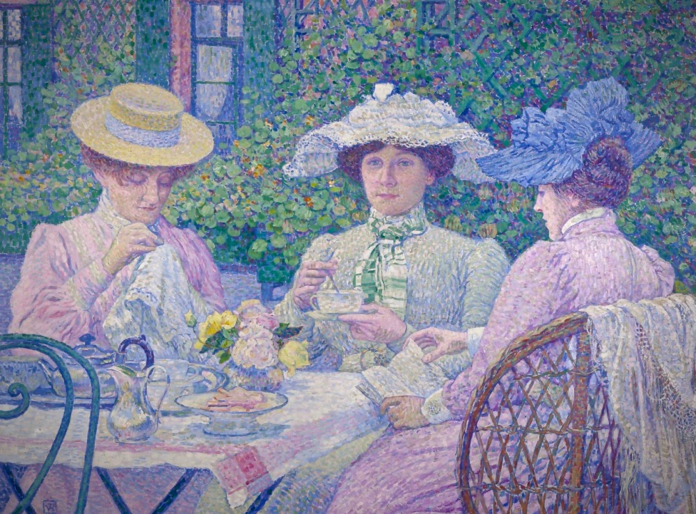 theo-van-rysselberghe-tea-in-the-garden-le-the-au-jardin-1903
