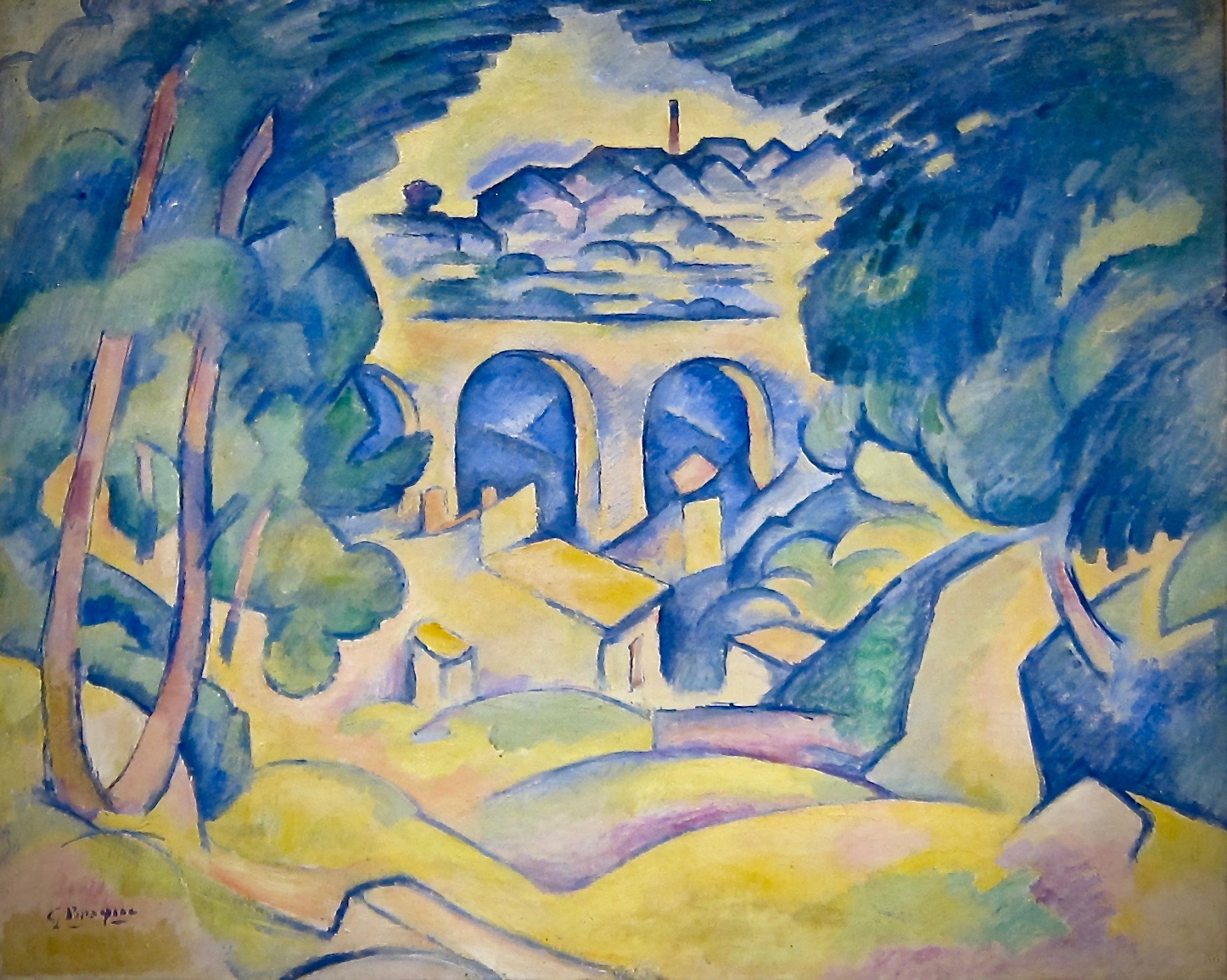 Georges Braque, The Viaduct at L'Estaque, 1907