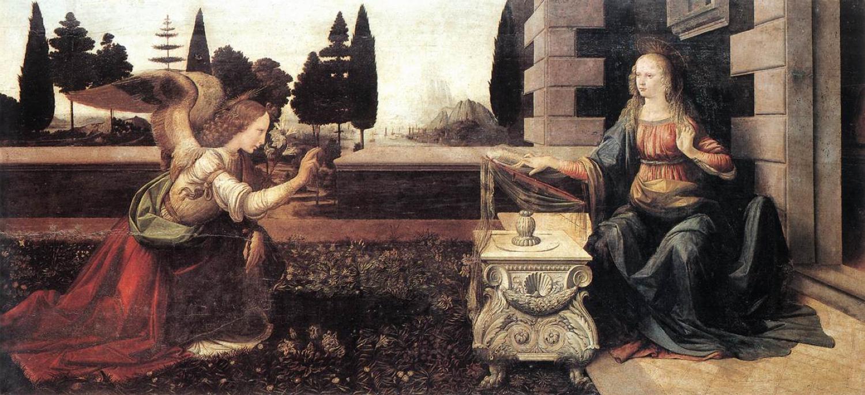annonciation Vinci 1472-75