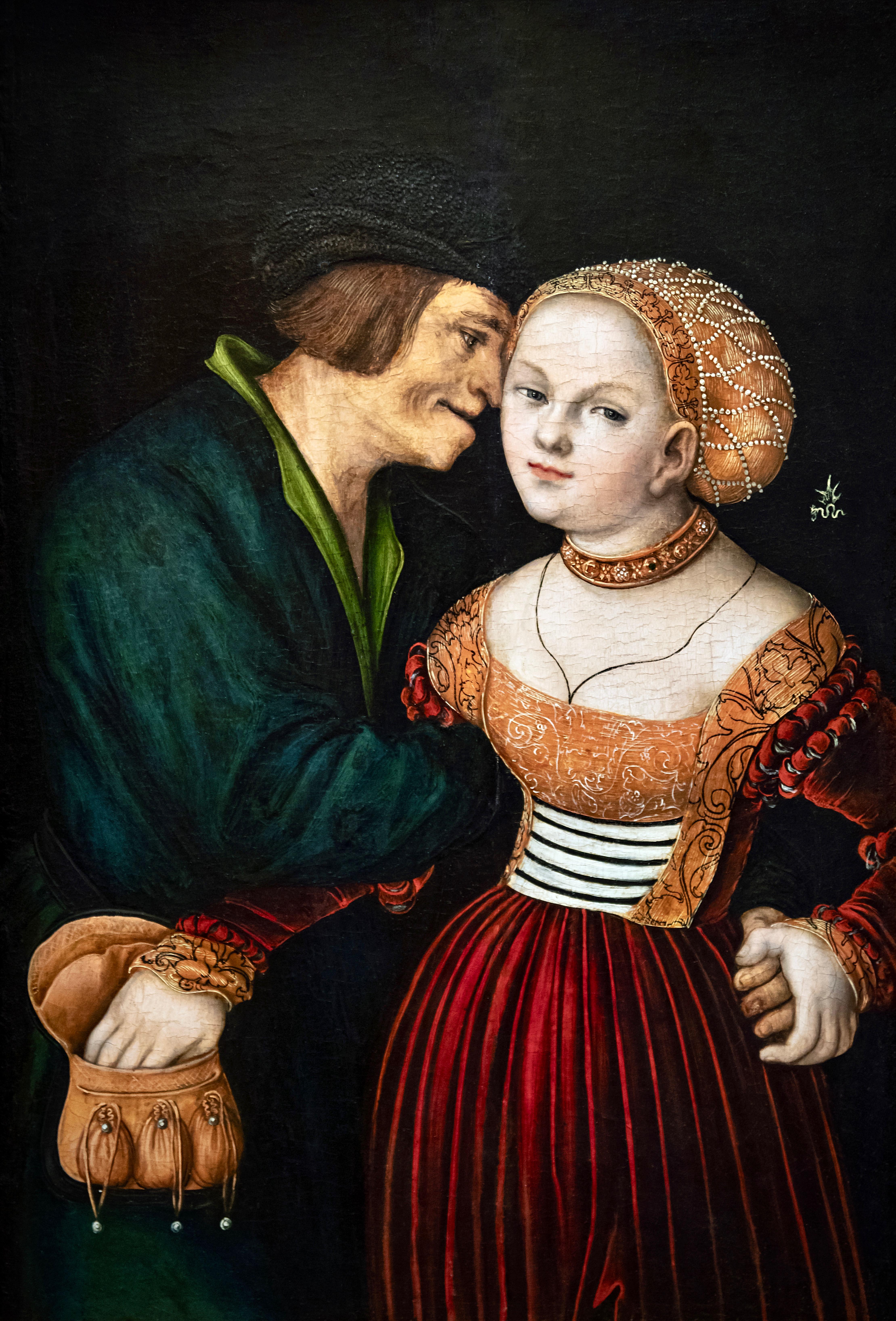Bemberg fondation Toulouse - Les amoureux - Lucas Cranach l'Ancien