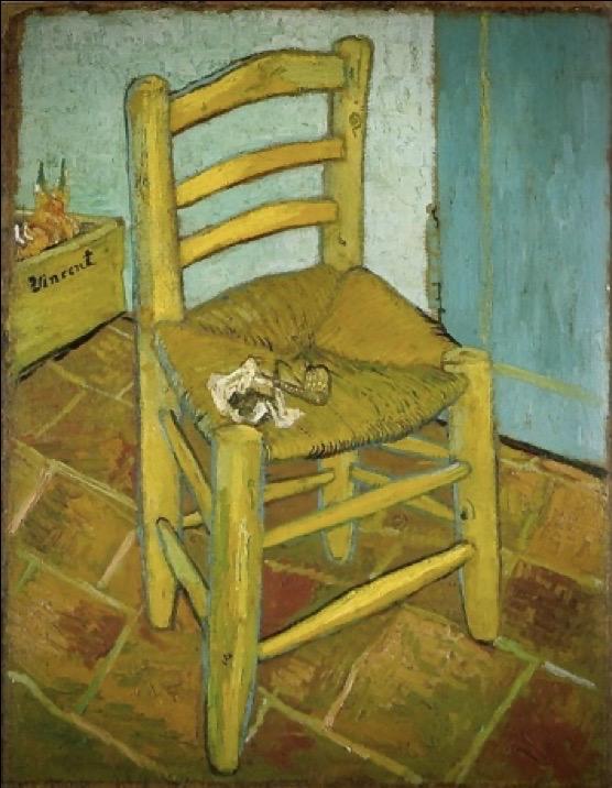 la chaise de Vincent avec sa pipe