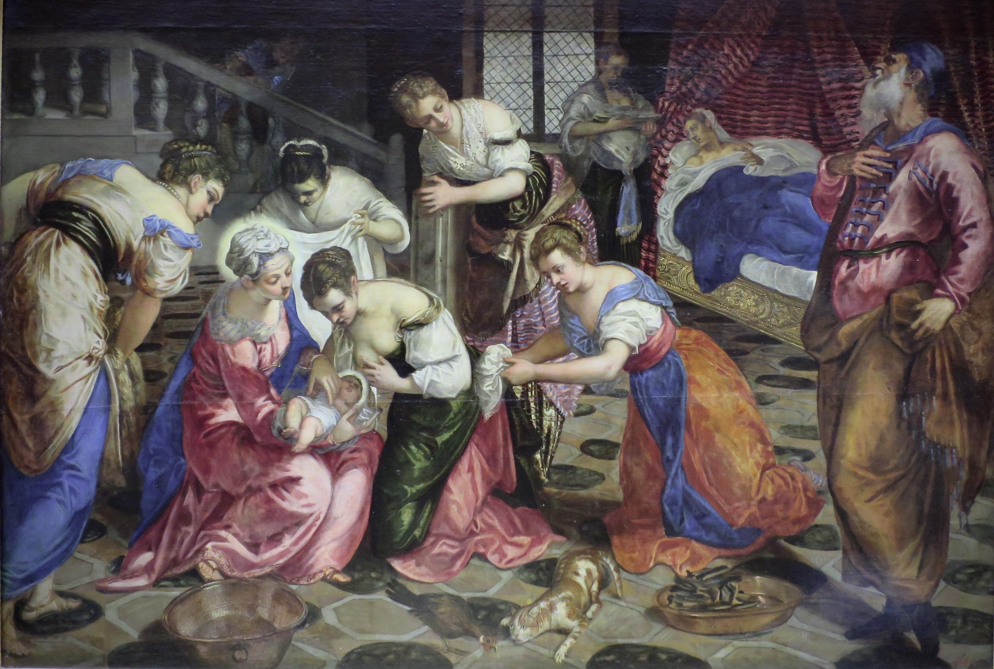 Jacopo_Tintoretto_-_The_Birth_of_John_the_Baptist_-_WGA22441