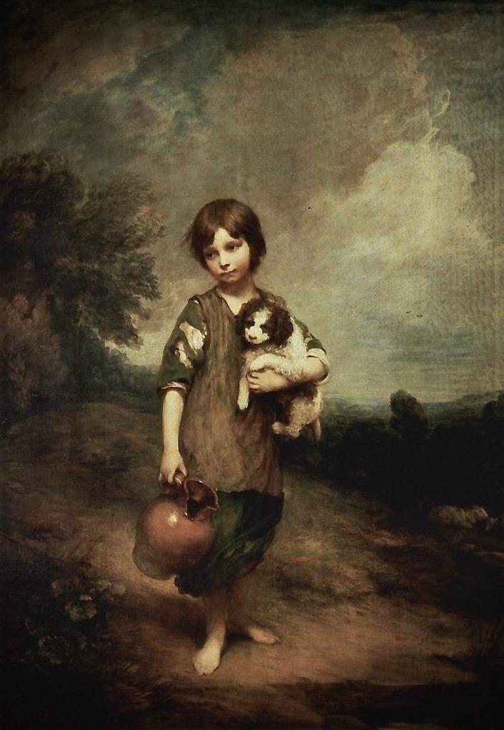 villageoise avec chien et cruche 2