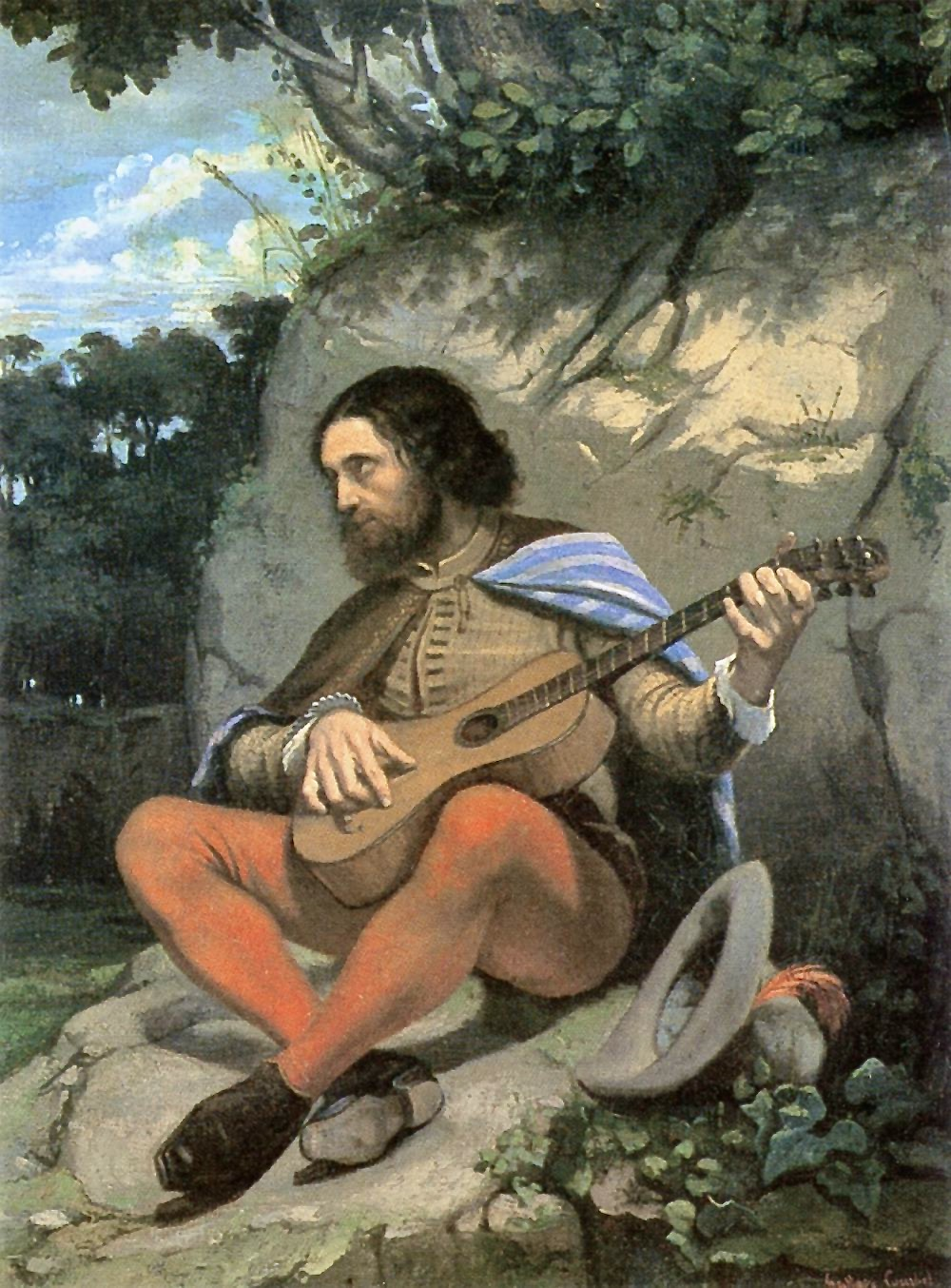 Gustave_Courbet_-_Young_Man_in_a_Landscape_(The_Guitarrero)_-_WGA5482