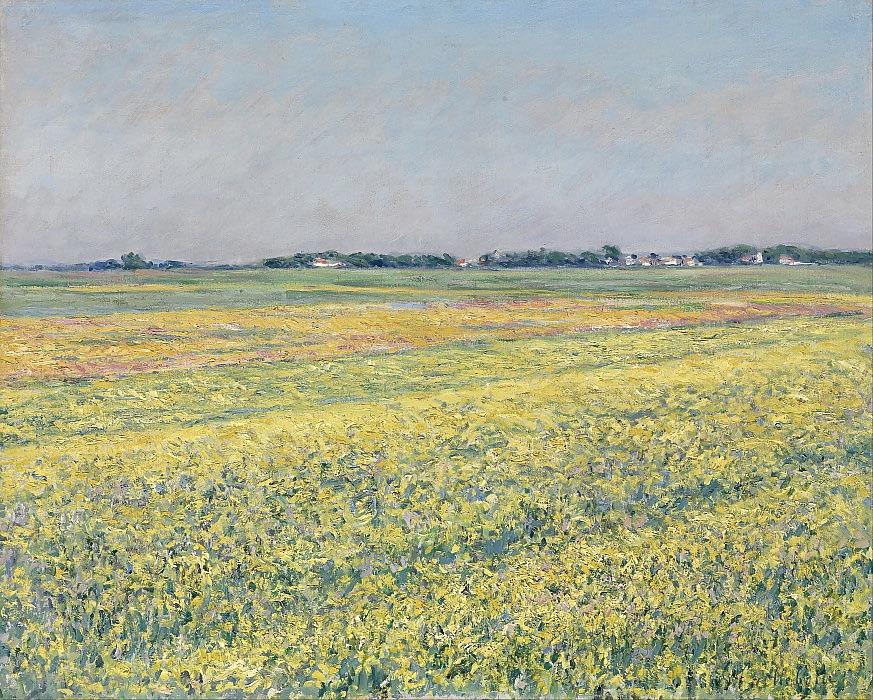 Gustave Caillebotte - The plain of Gennevilliers yellow fields - (MeisterDrucke-10880)