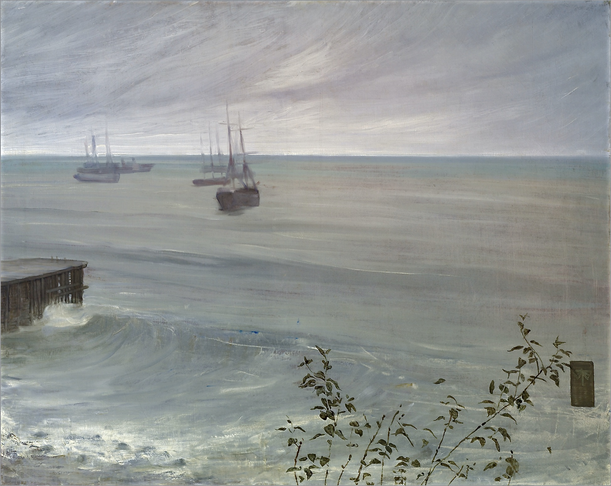 Whistler_James_Symphony_in_Grey_and_Green_The_Ocean_1866-72
