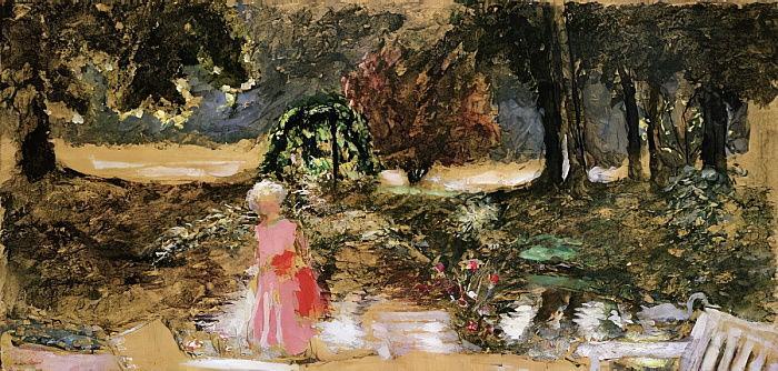 Edouard Vuillard - Mother and Child in a Park - (MeisterDrucke-124889)