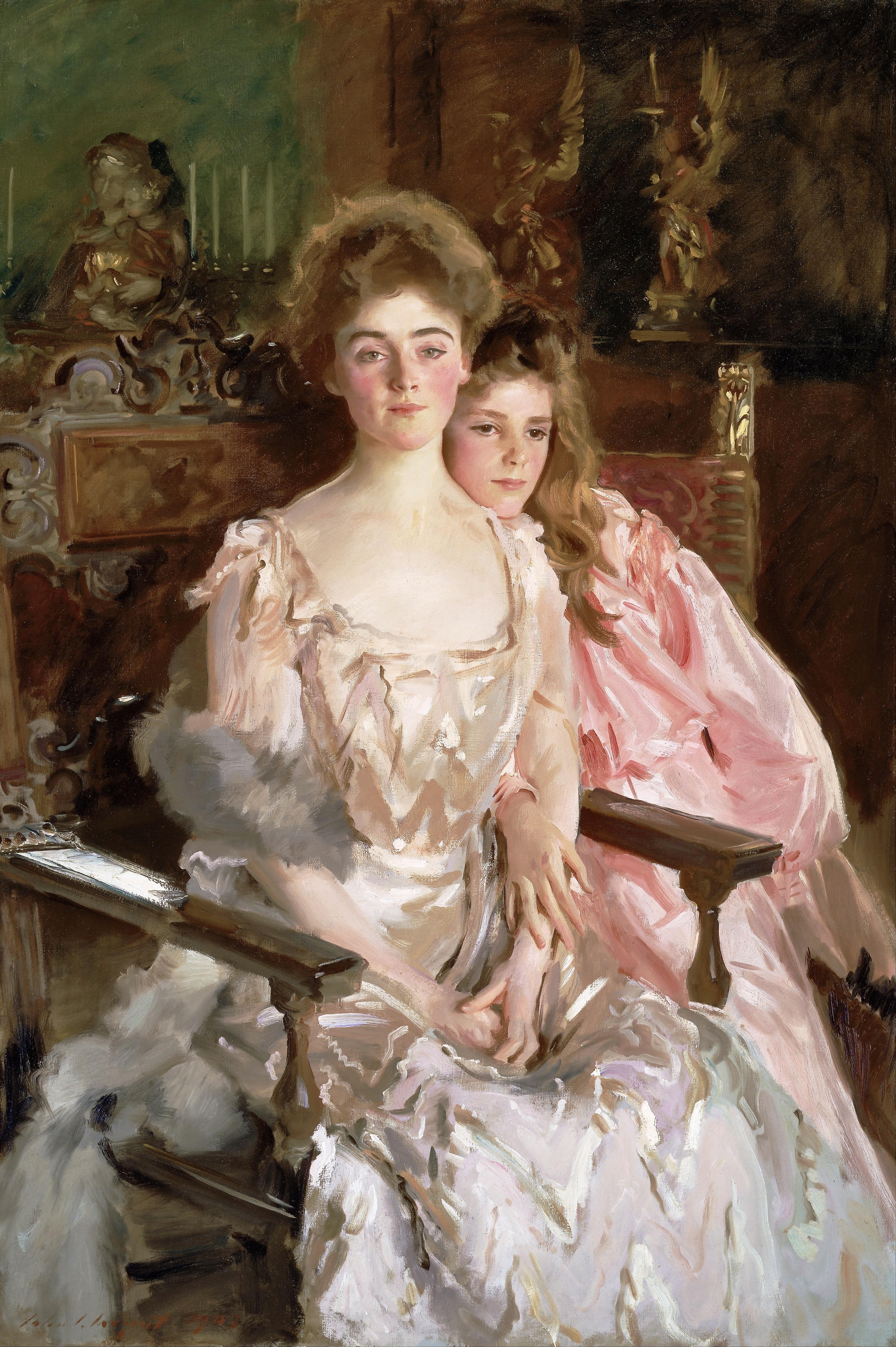 John_Singer_Sargent_-_Mrs._Fiske_Warren_(Gretchen_Osgood)_and_Her_Daughter_Rachel_-_Google_Art_Project